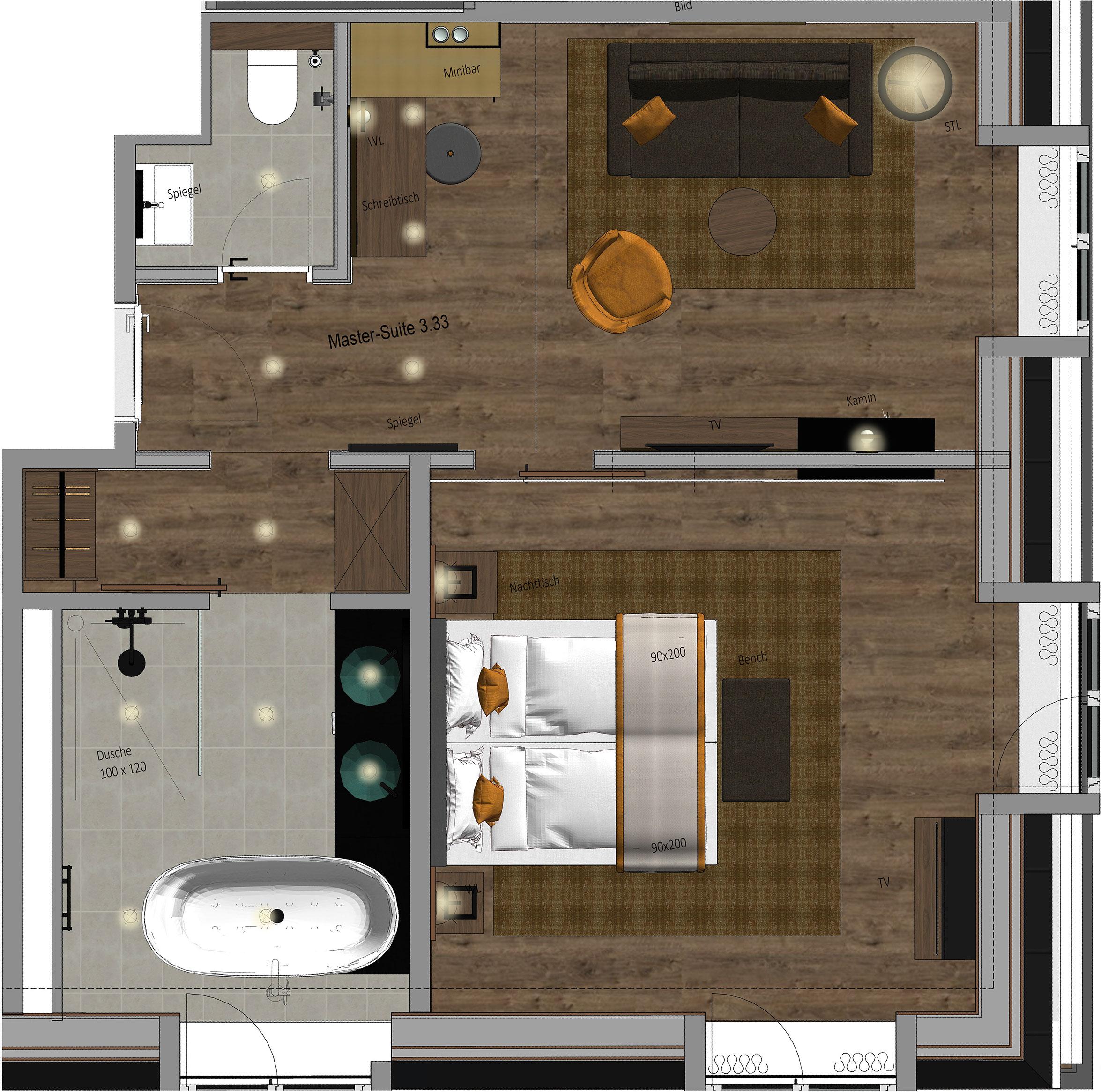 Karls Hotel Master Suite Floor Plan