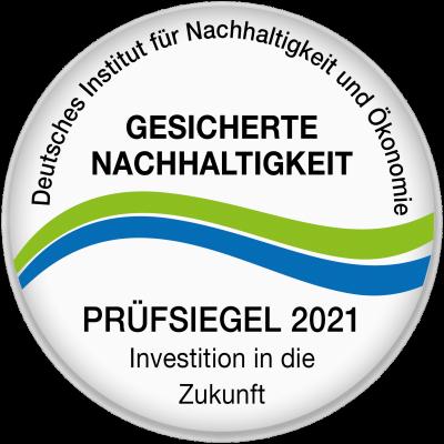 Siegel 2021 für Nachhaltigkeit