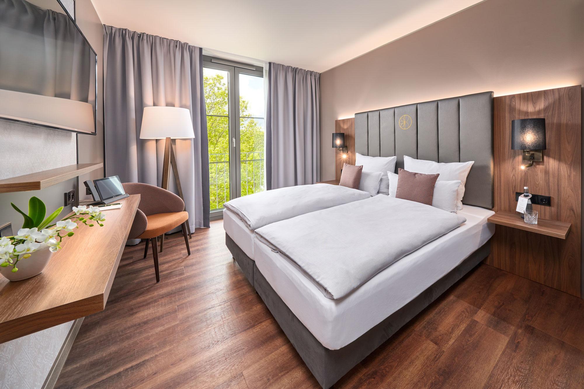 Karls Hotel Sigmaringen Comfort Zimmer Bett