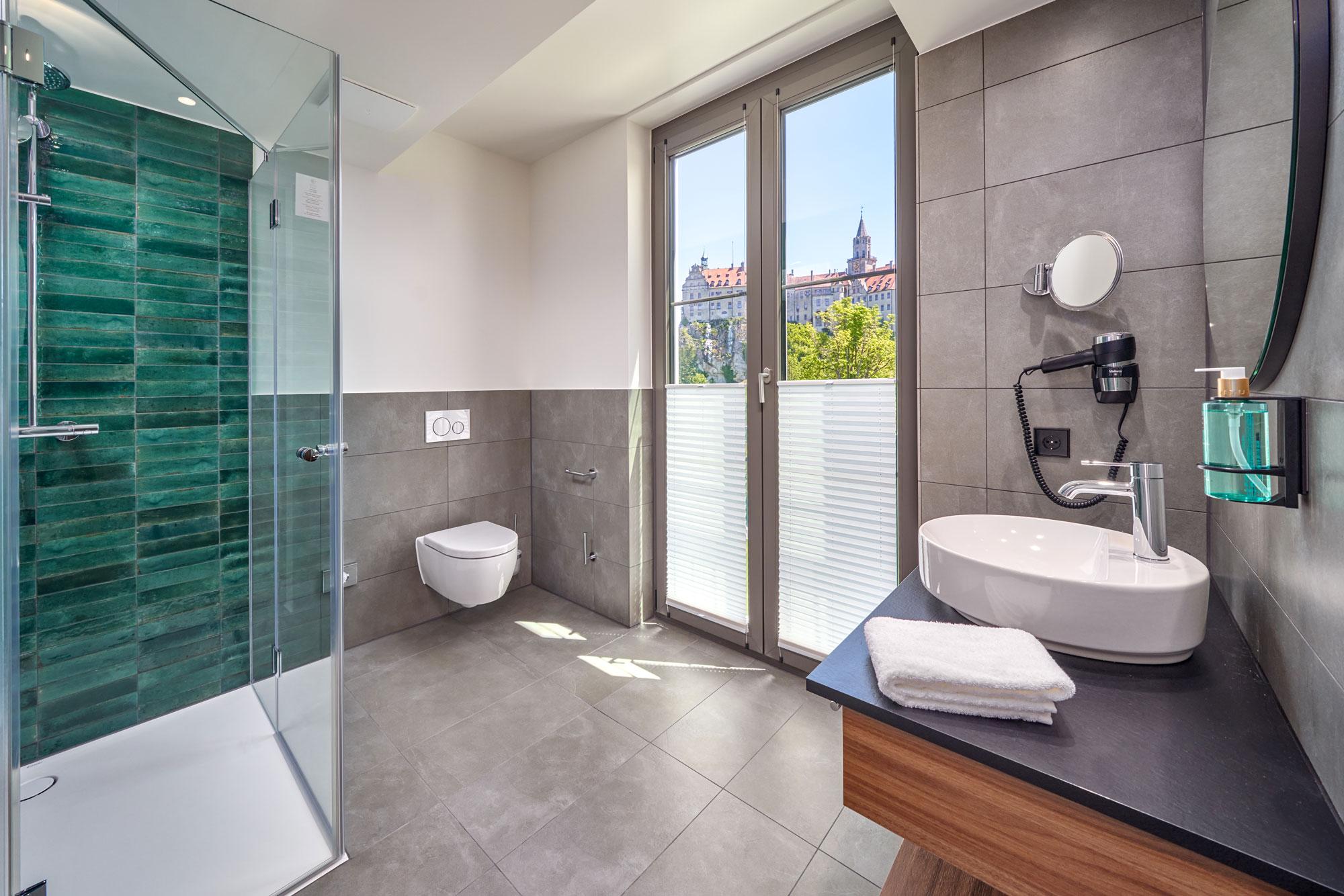 Karls Hotel Sigmaringen Superior Zimmer Bad